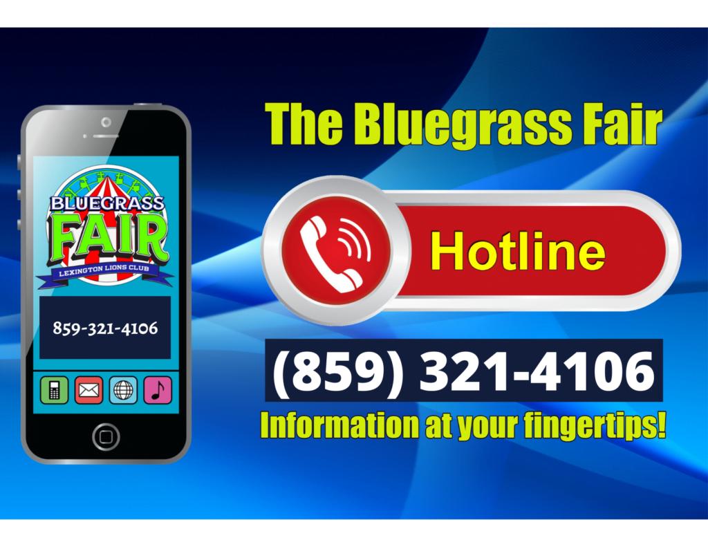 2021 Bluegrass Fair Hotline